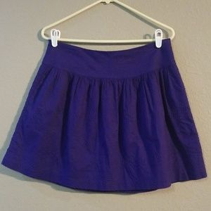 Gap Deep Purple Mini Skirt Size 8